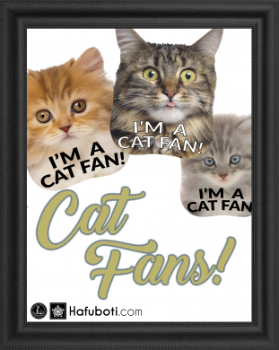Free fan templates for cat-lovers to download and use.